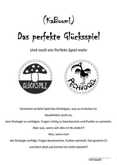 Games in German class: The perfect game of chance (perfect game) – My version of KaBoom!