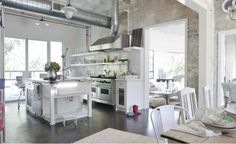 industrial chic kitchen diner