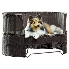 Pondside indoor/outdoor pet bed.