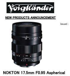 Voigtlander 17.5mm f0.95 Nokton lens with integrated MFT mount.  With bonus 58mm B+W MRC UV filter value $65.00