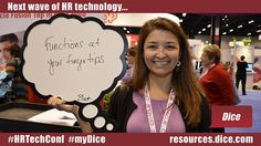 """The next wave of HR technology is... """"Functions at your fingertips"""" via Ellen #HRTechConf #myDice"""