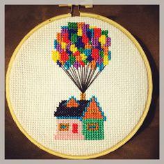 Disney's UP house cross stitch.
