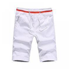 2018 Men Casual Shorts Men Cotton Solid Shorts Summer Beach Shorts New Fashion Shorts Costume Blanc, Colored Denim, Summer Shorts, Cotton Shorts, Fashion Pants, Men's Fashion, Casual Shorts, Men Shorts, Shopping