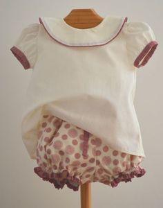 conjunto de niña, blusa y bombacho 9 meses