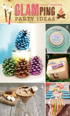 10 Creative Glamping {Glam Camping} Party Ideas http://hwtm.me/11U2kN7 #Glamping