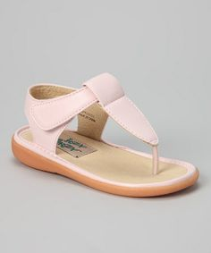 Look at this #zulilyfind! Light Pink Taylor Squeaker Sandal by Itzy Bitzy #zulilyfinds