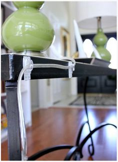 How to Hide those Pesky Lamp Cords via Hi Sugarplum