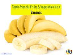 Teeth-friendly Fruits & Vegetables No. 4: Bananas // Dr Nease Orthodontics 2455 E. Main Street Spartanburg, SC 29307 (864) 579-7700 #Braces #Orthodontics #Invisalign #SpartanburgOrthodontist
