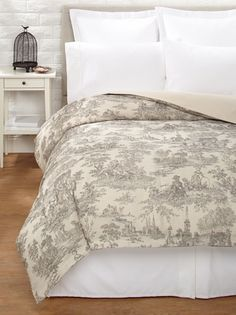 Beyond 50% OFF Amity Home Toile Duvet Cover (Brown/Natural)