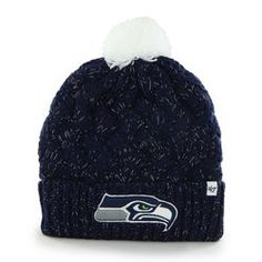 New Era Seattle Seahawks Ladies Breast Cancer Awareness Knit Hat -  Pink Gray  a4378168c