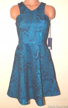 NWT Women's Flair Dress 2 JLo Jennifer Lopez Teal Animal Mosaic #JLO #Peplum #Clubwear