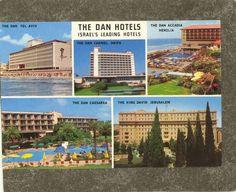 Delcampe - Online auctions for collectors Leading Hotels, King David, Haifa, Tel Aviv, Jerusalem, Israel, Postcards, Outdoor Decor, Dan