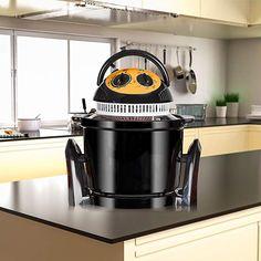 43,95€ -- Freidora sin aceite Delicook  Ahorra tiempo y energía con la freidora sin aceite Delicook. Utiliza hasta un 20% menos de electricidad. Ideal para mantener una alimentación saludable. Conserva todos los nutrientes y el sabor natural. Fácil limpieza.  Multifuncional: Hornea, Gratina, Tuesta, Seca, Fríe, Esteriliza, Asa, Recalienta, Descongela. Tostadas, Rice Cooker, Compost, Kitchen Appliances, Natural, Preserve, Oil, Deep Fryer, Healthy Eating