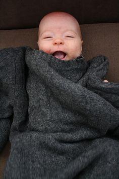 DIY recycled sweater sleep sack by Emily Lindberg, via Flickr