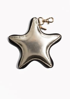 & Other Stories image 1 of Star Leather Keyring in Gold