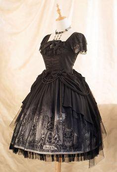 écailles De Lune -Forest Of Pipe Organ- Gothic Lolita Jumper Dress Luxury Version