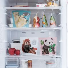YOU+MORE! 冷蔵庫からゴソゴソ……つまみぐいする動物たちの自立する保存袋の会|フェリシモ