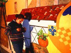 Custom murals Mexican Landscape by Golondrina Fine art.