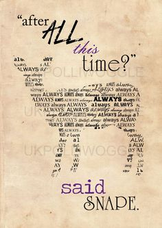 Snape, Always quote poster, Albus Dumbledore quote, harry potter, minimalist, wall decor, typography, Modern, Classic