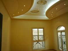 Yellow is itself a brightening colour and here it is just splashed all over. Do you like this #false #ceiling?