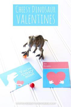 Dinosaur Valentines Printables