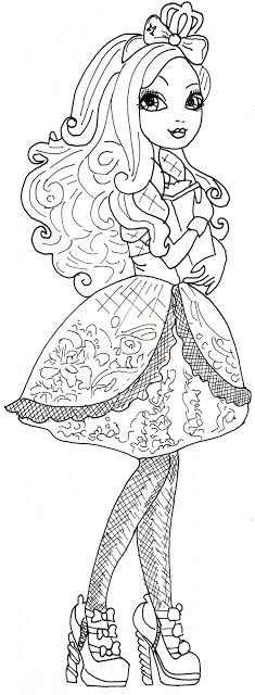 Free Printable Ever After High Coloring Pages: Apple White Ever After High Coloring Sheet