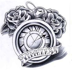 Clock Tattoo, How cute would it be to have a clock with your childs name and the time they were born!!