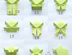bricolage enfants avec papier, comment faire des origami animaux en quelques pliages, grenouille sauteuse originale