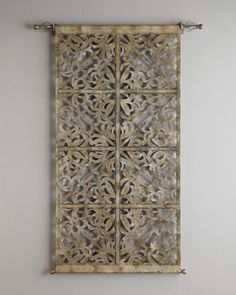 Laser-Cut Leather Tapestry - Neiman Marcus  .  (Well, I can dream...)
