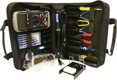 Tool Kit Model TK-1000 New in the electronics educational field. A professionalorganizer tool kit at affordable prices. No student shouldbe without this unique tool kit that holds all of the tools youneed (meter, experiments, etc.).Tools Included in Case: ? ET-10