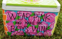 Lilly Pulitzer Carolina Cup cooler. So cute, I may die.