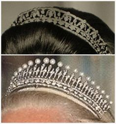 The Royal Order of Sartorial Splendor: Tiara Thursday: The Kent Diamond and Pearl Fringe Tiara (Bandeau above and fringe below...