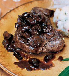 Filet Mignon with Truffled Mushroom Ragout
