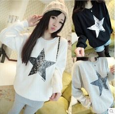 $6.95 for Pretty cloth girl teenager fashion star autumn tops tees