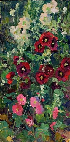 """""""The Arrangement"""" by Tricia Bass Oil ~ 24"""" x 12"""""""