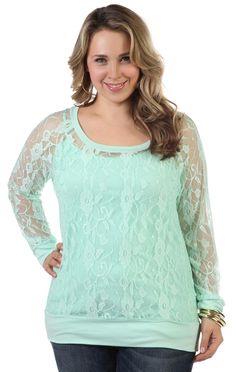 #mint plus size long sleeve and good website cheap plus size clothes