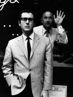 Jerry Schatzberg, Harold Pinter and Donald Pleasance, 1968