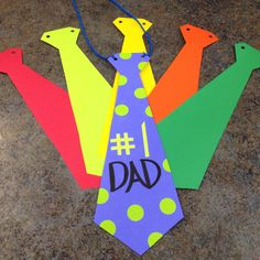 Father's Day craft, tie, yarn, toddler craft