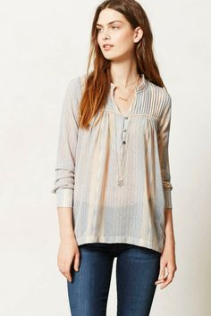 Anthropologie  Odessa Peasant Blouse