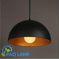 Modern pendant light LED Aluminum black lamp inside gold for restaurant bar coffee dining room hanging LED light fixture #Affiliate