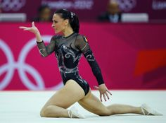 Romania's Catalina Ponor competes in the women's gymnastics floor exercise final in the North Greenwich Arena during the London 2012 Olympic Games August 7, 2012.