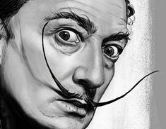Diego Schirinzi - SALVADOR DALI' - portraits illustrations