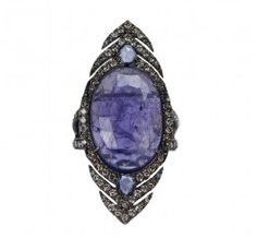 Tanzanite slice ring by Sutrra