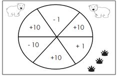 Free Place Value Game - 10 More Ten Less for first graders