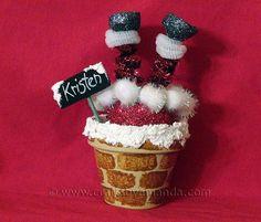 Santa Chimney Place Setting [Crafts by Amanda} #claypot #craft #christmas