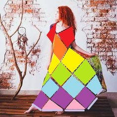 ergahandmade: Colorful Crochet Dress + Diagrams