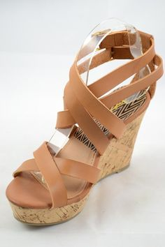 These camel wedges are the shoes of your summer dreams ladies! They will go  with