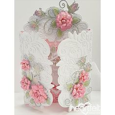 Blushing Rose wedding card made w/ Heartfelt Love collection from #HeartfeltCreations
