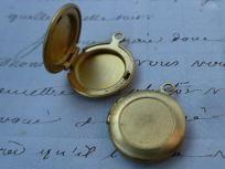 Antique style mini brass lockets