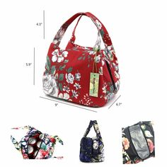 e1ee77e41c02 Reusable lunch bags for women Insulated Lunch Box Small Lunch Bag  (007Purple)  wonderfulflower